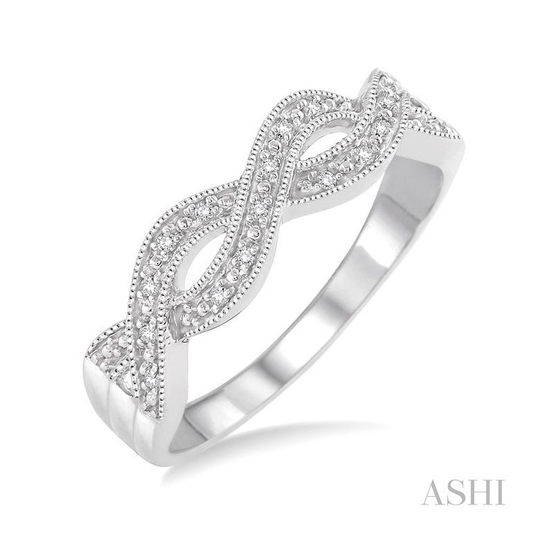 ASHI silver infinity diamond ring