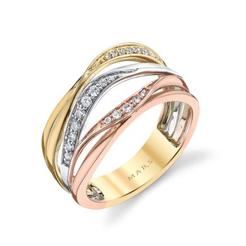 MARS 26864 Fashion Ring, 0.18 Ctw.