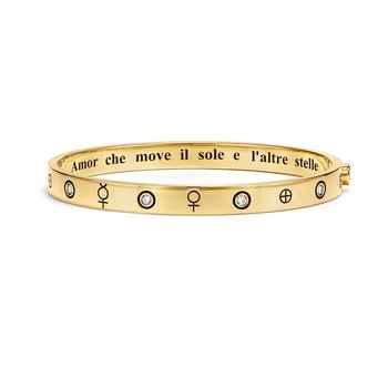 18k Yellow Gold and Diamond Astrid Bracelet