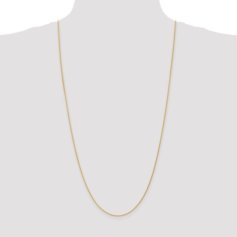 Quality Gold 14k 1.20mm Parisian Wheat Chain Anklet