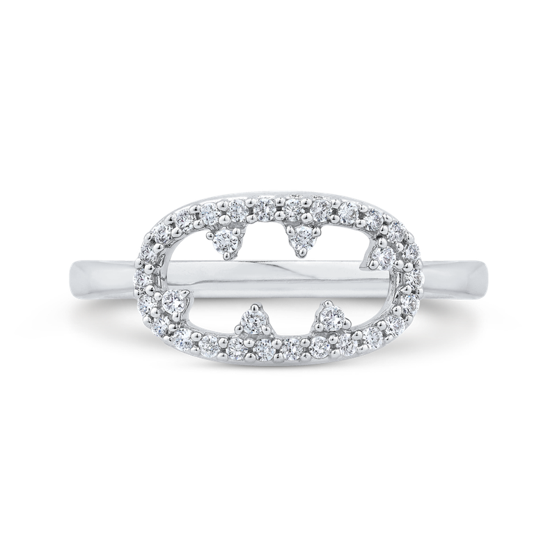 Essentials 10K White Gold 1/5 ct Round Diamond Fashion Ring