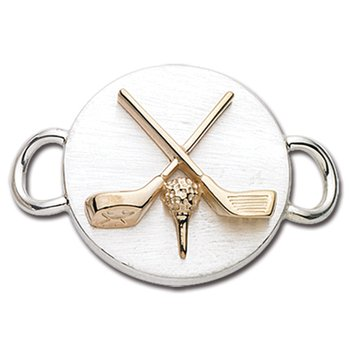 Sterling Silver & 14k Yellow Gold Golf Clasp