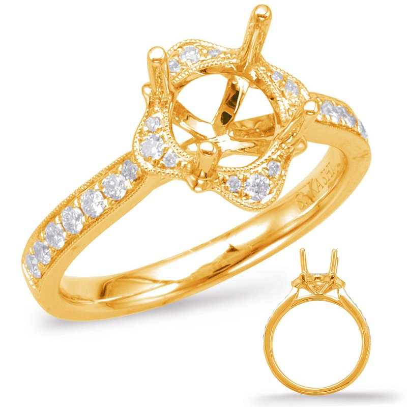 S. Kashi & Sons Bridal Yellow Halo Engagement Ring