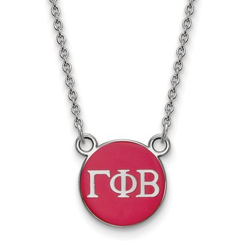 Sterling Silver Gamma Phi Beta Greek Life Necklace