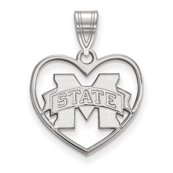 Sterling Silver Mississippi State University NCAA Pendant