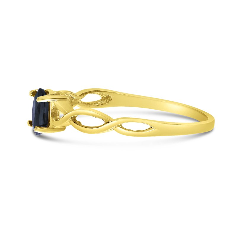 Color Merchants 10k Yellow Gold Oval Sapphire Ring