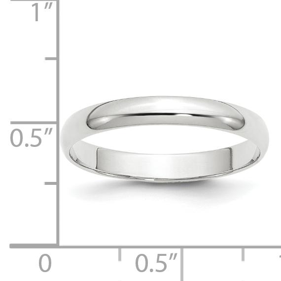 Best Designer Jewelry 14KW 5mm LTW Half Round Band Size 7.5
