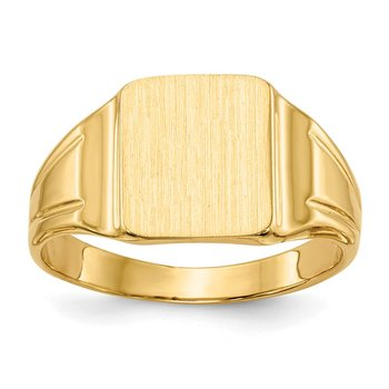 14k 9.5x8.5mm Closed Back Signet Ring