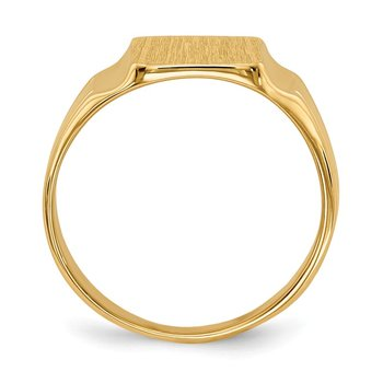 14k 7.5x9mm Closed Back Signet Ring