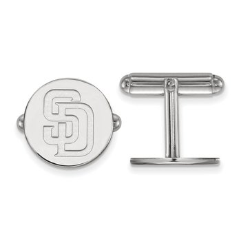 Sterling Silver San Diego Padres MLB Cuff Links