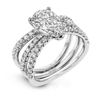 Simon G LR1083-PR WEDDING SET