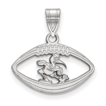 Sterling Silver University of Miami NCAA Pendant