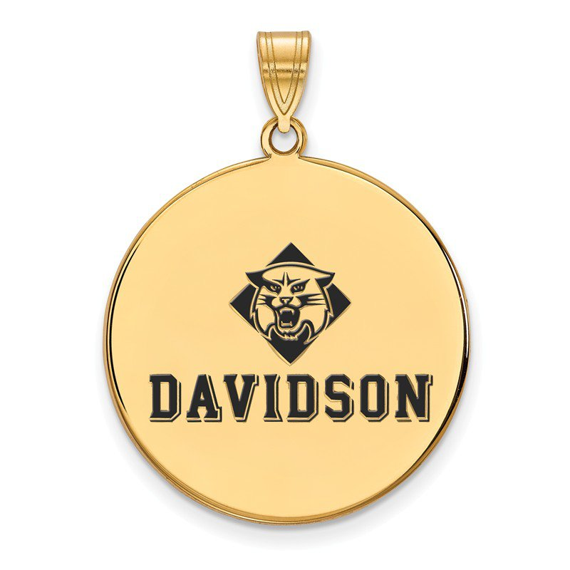 NCAA Gold-Plated Sterling Silver Davidson College NCAA Pendant