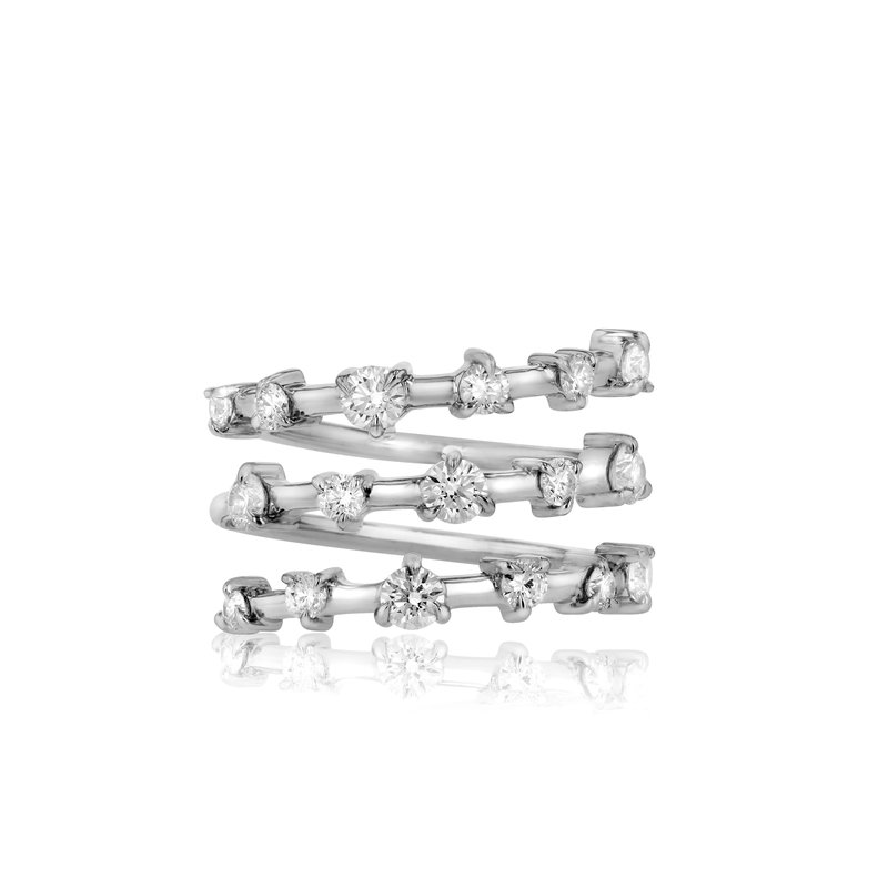 Phillips House White gold diamond Enchanted layer wrap ring