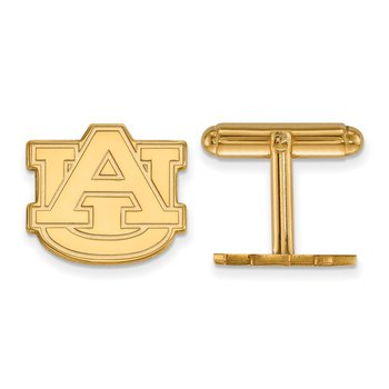 Gold-Plated Sterling Silver Auburn University NCAA Cuff Links