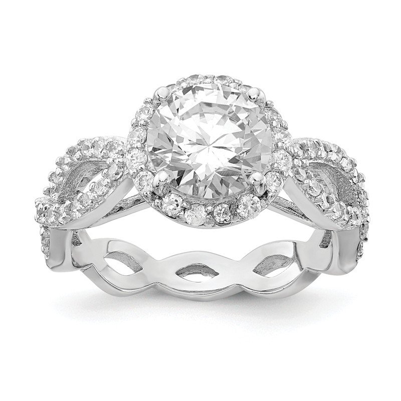 Cheryl M Cheryl M Sterling Silver CZ Round Twisted Ring