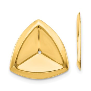 14k Polished Triangle Earring Jackets