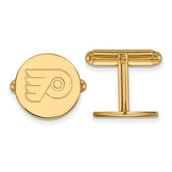 Gold Philadelphia Flyers NHL Cuff Links