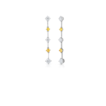 Cento &Amp; Yellow Sapphire Earrings