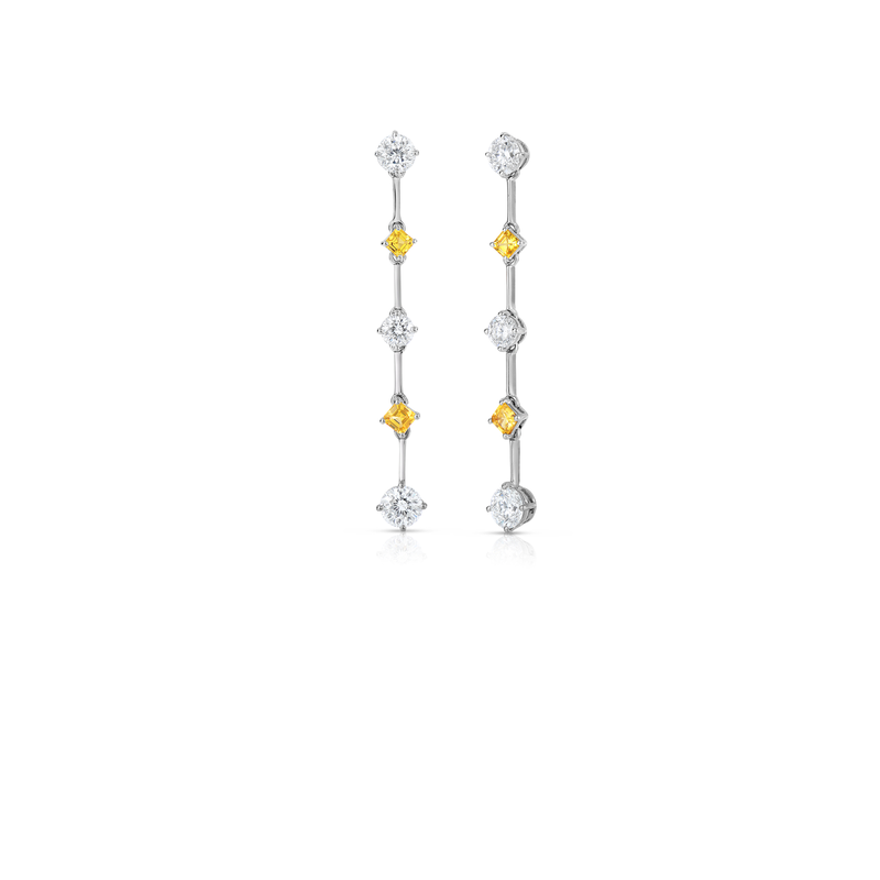 Roberto Coin Cento &Amp; Yellow Sapphire Earrings
