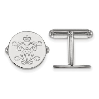Sterling Silver College of William & Mary NCAA Cuff Links