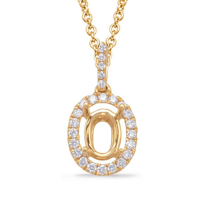 S. Kashi  & Sons Diamond Pendant For 8x6mm oval Center