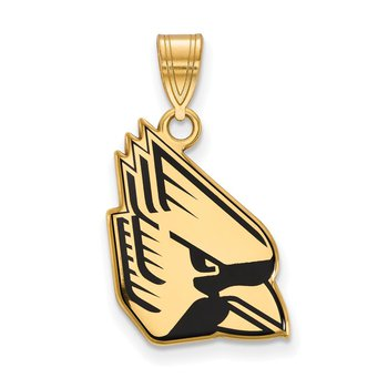Gold-Plated Sterling Silver Ball State University NCAA Pendant