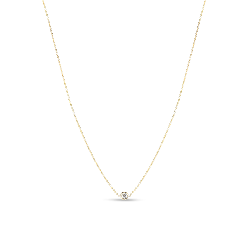 Roberto Coin 18Kt Gold 1 Diamond Station Necklace