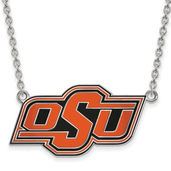 Sterling Silver Oklahoma State University NCAA Necklace