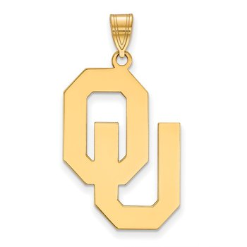 Gold-Plated Sterling Silver University of Oklahoma NCAA Pendant