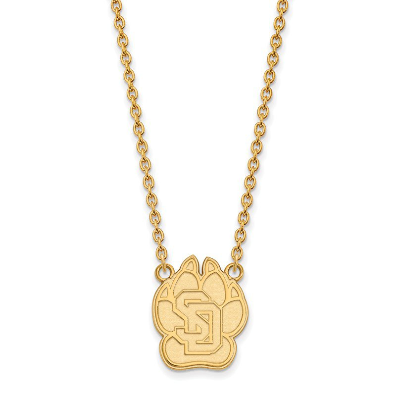 NCAA Gold University of South Dakota NCAA Necklace