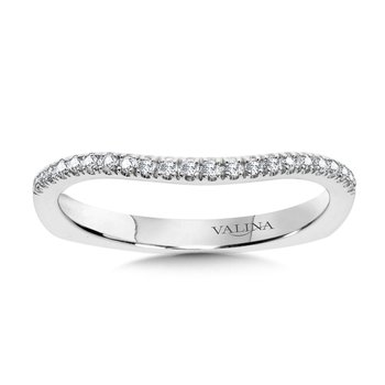 Diamond and 14K White Gold Wedding Ring (0.16 ct. tw.)