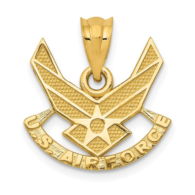 Quality Gold 14k U. S. AIR FORCE Pendant