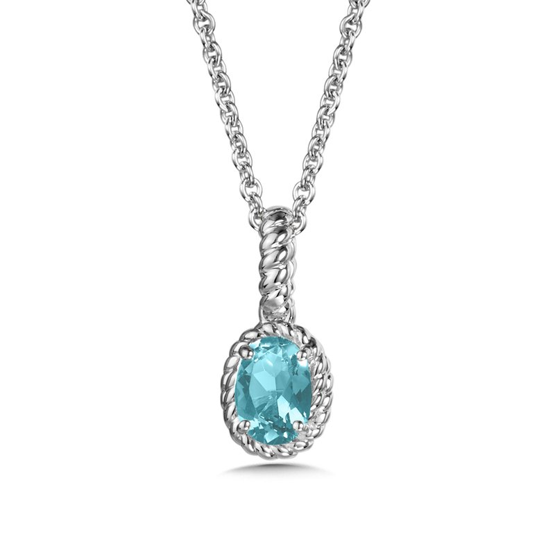 SDC Creations Aquamarine Pendant in Sterling Silver