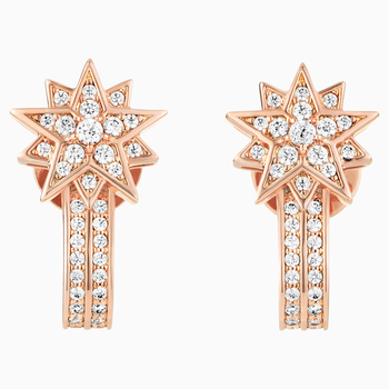 Penélope Cruz Moonsun Pierced Earring Jackets, Limited Edition, White, Rose-gold tone plated