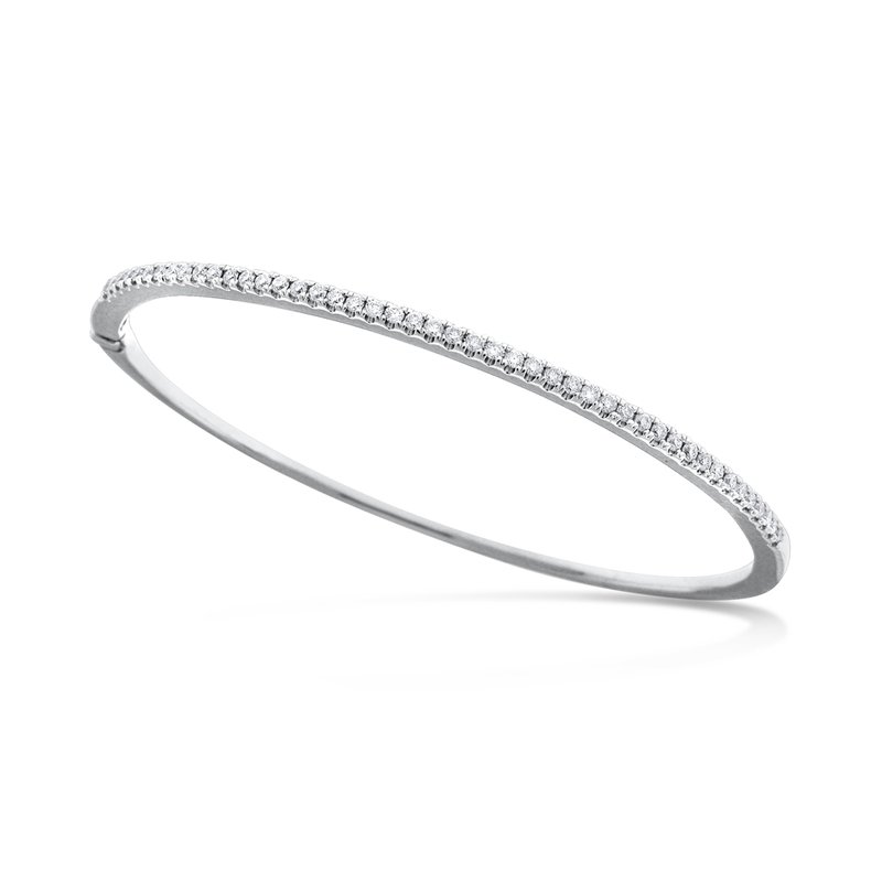 MAZZARESE Fashion Gold and Diamond Bangle Bracelet