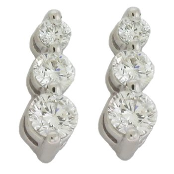 Three Stone Diamond Earring