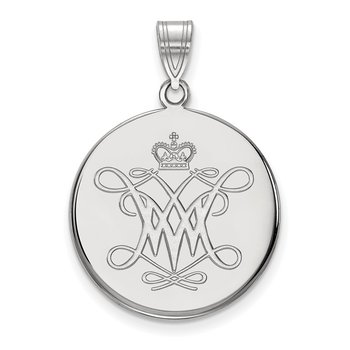 Sterling Silver College of William & Mary NCAA Pendant