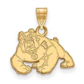 Gold-Plated Sterling Silver California State University Fresno NCAA Pendant