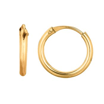 10K Gold Mini Endless Hoop Earring