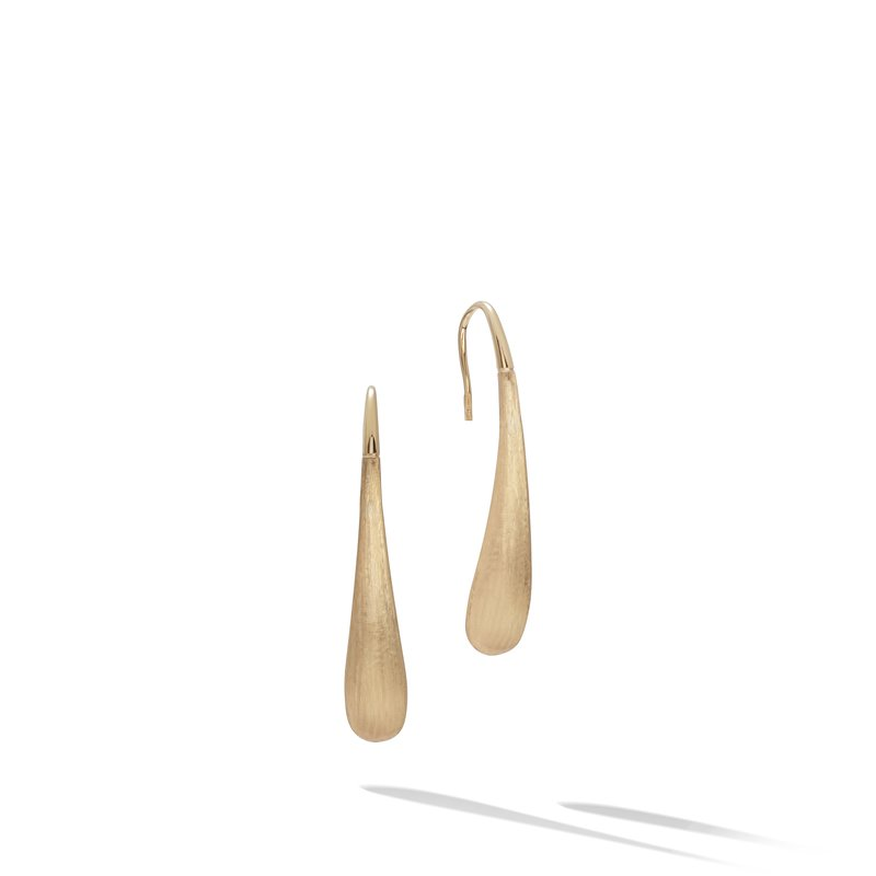 Marco Bicego Lucia Yellow Gold Modern Teardrop Earrings