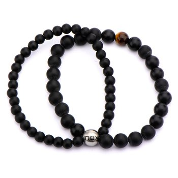 Double Strand Tiger Eye Bead Bracelet