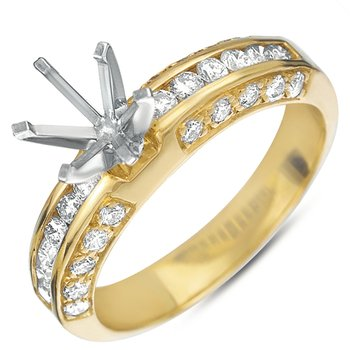 The Diamond Store: S. Kashi & Sons White Gold Engagement Ring