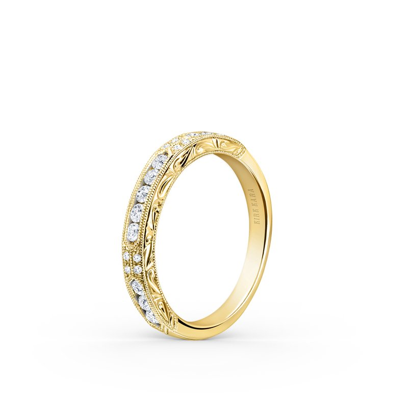 Expressive Vintage Diamond Wedding Band