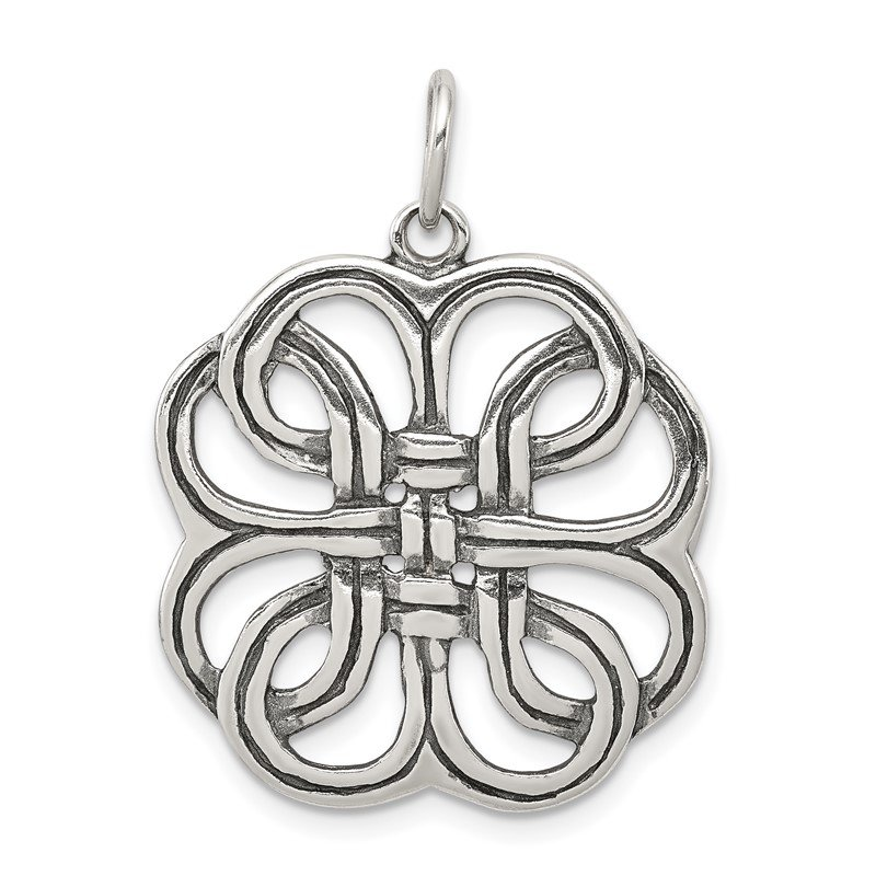 Quality Gold Sterling Silver Celtic Charm