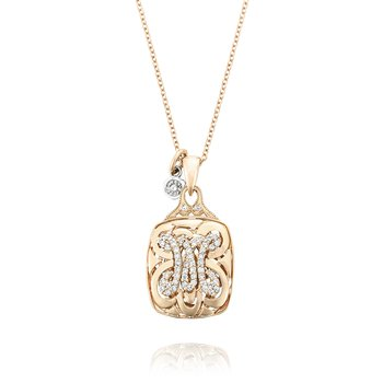 Petite Monogram Diamond Initial Pendant in Rose Gold | SN223_P