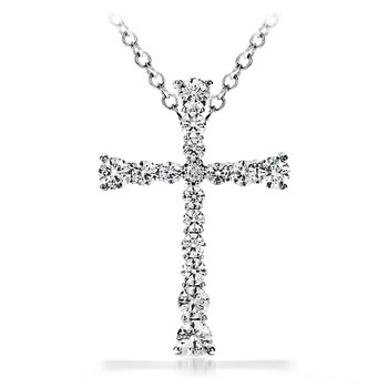 1.2 ctw. Divine Journey Cross Pendant Necklace