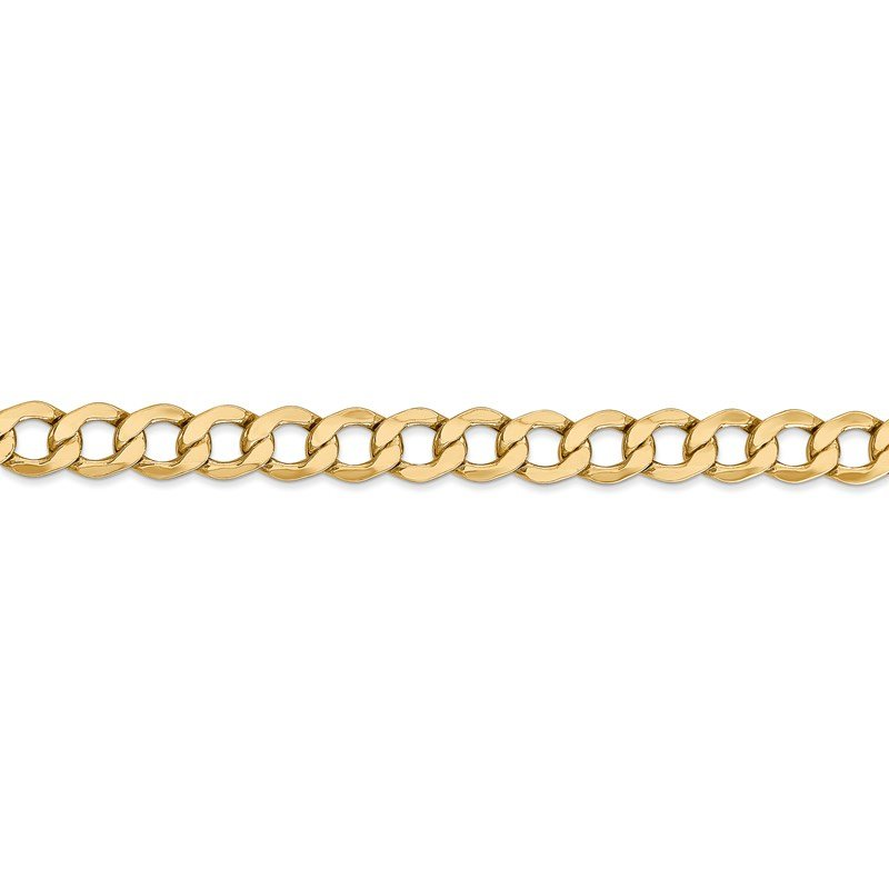 Leslie's Italian Gold Leslie's 14K 6.5mm Semi-Solid Curb Link Chain