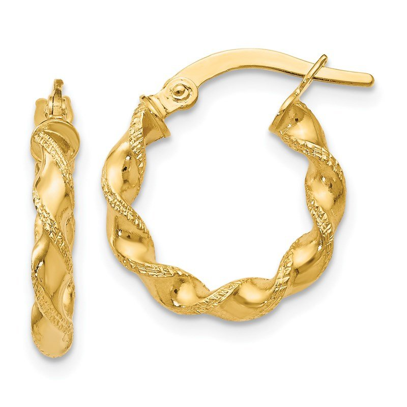 Leslie's Leslie's 14K Twisted Hoop Earrings