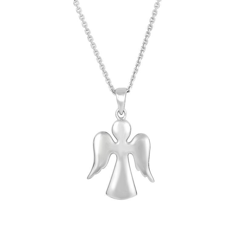 Royal Chain Silver Angel Necklace